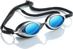 Zwembril op sterkte Sable zwart MPB10O UVA/ UVB optische glazen op sterkte