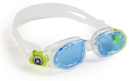 Kinder zwembril Moby Kid Blue Lens Clear/Lime