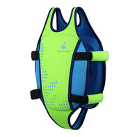 Aqua Fitness Swim Vest Fluo Green/Light Blue 2-3Y