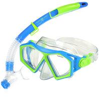 Snorkelset Molokai + Spout Blue / Green