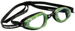 K180  Clear Lens Green/Black zwembril