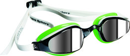 K180 Mirrored Lens White/Green zwembril