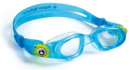 Kinder zwembril Moby Kid Aqua / Lime Clear lens