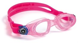 Kinder zwembril Moby Kid Pink / Deep Blue Clear lens