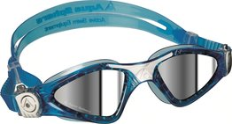 Kayenne Small Mirrored Lens Aqua/White