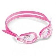 Optische kinder zwembril roze met Min-glazen compleet