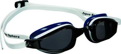K180 Dark Lens White/Blue Muted zwembril
