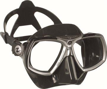 Duikbril op sterkte Aqualung Look 2 kleur BS Zwart-Zilver Compleet