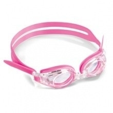 Optische kinder zwembril roze met plusglazen compleet